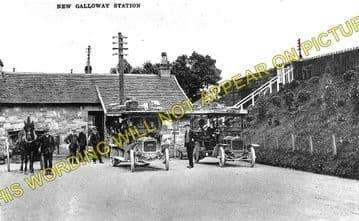 New Galloway Railway Station Photo. Parton - Gatehouse. Portpatrick Line. (1)..