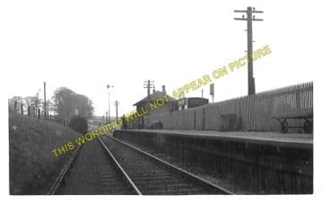 Nisbet Railway Station and Post Office Photo. Roxburgh - Jedburgh. NBR. (1)
