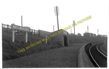 North Water Bridge Railway Station Photo. Montrose - St. Cyrus. Bervie Line. (1).