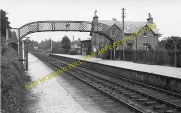Orton Railway Station Photo. Orbliston - Mulben. Elgin to Keith Line. (2).