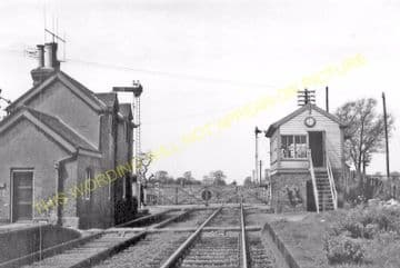 Orton Waterville Railway Station Photo. Peterborough - Castor. Wansford Line (2)