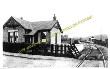 Oxton Railway Station Photo. Fountainhall - Lauder. North British Railway (1)