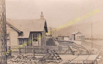 Oxton Railway Station Photo. Fountainhall - Lauder. North British Railway (5).
