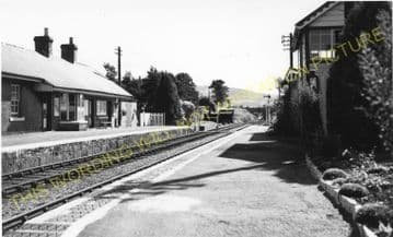 Pantydwr Railway Station Photo. St. Harmons - Tylwch. Builth to Llanidloes. (2)