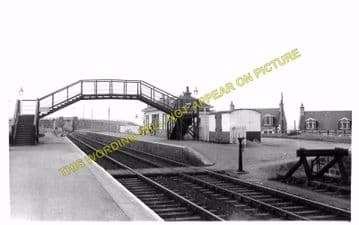 Portknockie Railway Station Photo. Cullen - Findochty. Portsoy Line. (2)