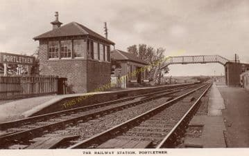 Portlethen Railway Station Photo. Newtonhill - Cove Bay. Stonehaven Line. (2)