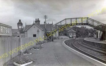 Portsoy Railway Station Photo. Tillynaught- Glassaugh. Cairnie to Portessie. (10)