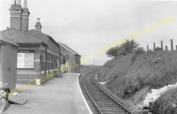 Rhosgoch Railway Station Photo. Amlwch - Llanerchymedd. Holland Arms Line. (4).