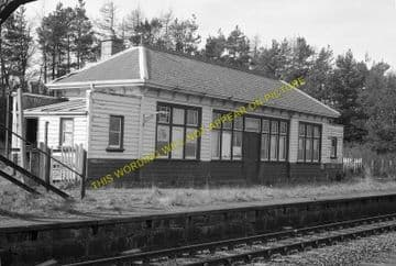 Rothiemay Railway Station Photo. Cairnie - Huntly. Gartly Line. GNSR. (1)