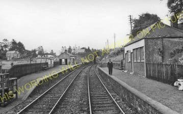 Rumbling Bridge Railway Station Photo. Crook of Devon - Dollar. Kinross Line (3)