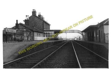 Ruthwell Railway Station Photo. Cummertrees - Racks. Annan to Dumfries Line. (2).