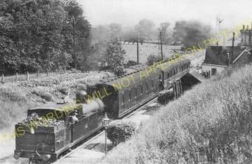 Ryhall Railway Station Photo. Essendine - Stamford. Great Northern Railway. (1).