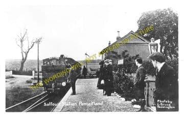 Saltoun Railway Station Photo. Pencaitland - Humbie. Ormiston to Gifford. (1)..