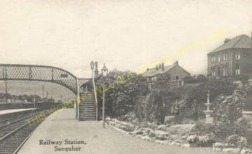 Sanquhar Railway Station Photo. Kirkconnel - Carronbridge. Cumnock Line. (4)