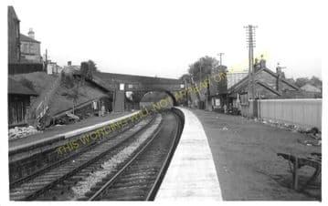 Shotts Railway Station Photo. Fauldhouse - Hartwood. Caledonian Railway. (1)