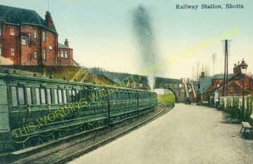 Shotts Railway Station Photo. Fauldhouse - Hartwood. Caledonian Railway. (3)
