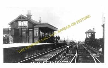 Slamannan Railway Station Photo. Avonbridge to Longriggend Line. (1)..