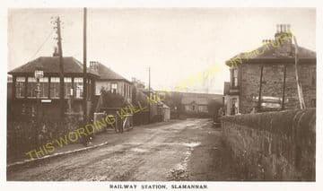 Slamannan Railway Station Photo. Avonbridge to Longriggend Line. (4)