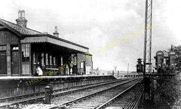 Slamannan Railway Station Photo. Avonbridge to Longriggend Line. (5)