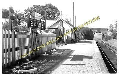 St. Cyrus Railway Station Photo. North Water Bridge - Lauriston. Bervie Line (1)