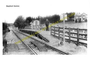 Stepford Railway Station Photo. Newtonairds - Crossford. Dumfries Line. (1)