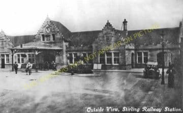 Stirling Railway Station Photo. Caledonian Railway. (4)