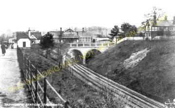 Tadworth & Walton-on-the-Hill Railway Station Photo. Tattenham Corner Line. (6)