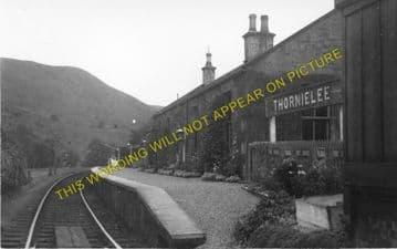 Thornielee Railway Station Photo. Walkerburn - Clovenfords. Galashiels Line (1)