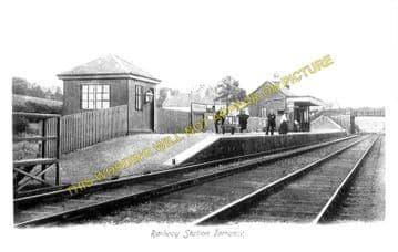 Torrance Railway Station Photo. Balmore - Gavell. Glasgow to Kilsyth Line. (1).
