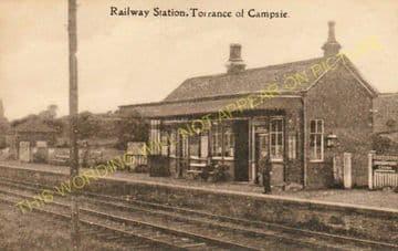 Torrance Railway Station Photo. Balmore - Gavell. Glasgow to Kilsyth Line. (3).