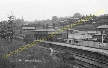 Uppingham Railway Station Photo. Seaton Line. London & North Western Railway (11).