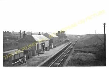 Urquhart Railway Station Photo. Garmouth - Calcots. Buckie to Elgin Line. (1)