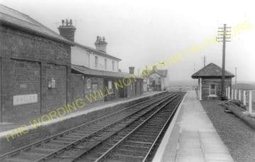 Valley Railway Station Photo. Holyhead - Rhosneigr. Anglesey. Bangor Line. (2)