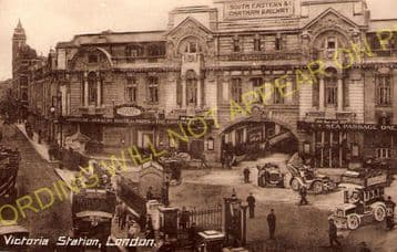 Victoria Railway Station Photo. South Eastern & Chatham Railway. (2)
