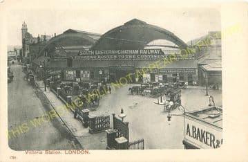 Victoria Railway Station Photo. South Eastern & Chatham Railway. (8)