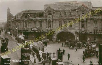 Victoria Railway Station Photo. South Eastern & Chatham Railway. (9)