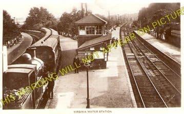 Virginia Water Railway Station Photo. Egham to Sunningdale & Chertsey Lines. (1)