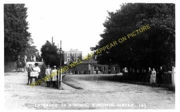 Virginia Water Railway Station Photo. Egham to Sunningdale & Chertsey Lines. (2)