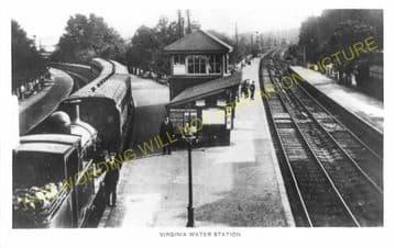 Virginia Water Railway Station Photo. Egham to Sunningdale & Chertsey Lines. (5).