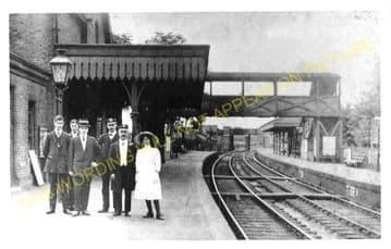Waddon Railway Station Photo. Carshalton -Croydon. LB&SCR. (4)
