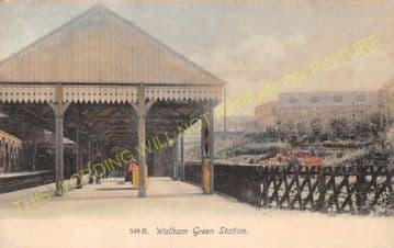 Walham Green Railway Station Photo. Fulham Broadway. District Railway. (4)