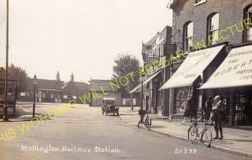 Wallington Railway Station Photo. Carshalton Beeches - Bandon. Sutton Line. (12)