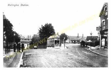 Wallington Railway Station Photo. Carshalton Beeches - Bandon. Sutton Line. (4)
