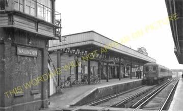 Wallington Railway Station Photo. Carshalton Beeches - Bandon. Sutton Line. (5)