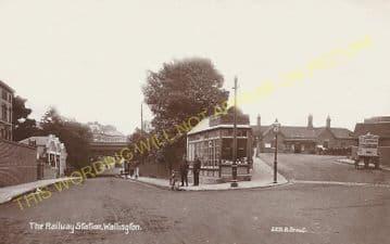 Wallington Railway Station Photo. Carshalton Beeches - Bandon. Sutton Line. (7)