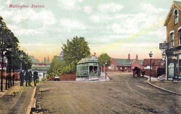 Wallington Railway Station Photo. Carshalton Beeches - Bandon. Sutton Line. (9)