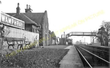 Wamphray Railway Station Photo. Dinwoodie - Beattock. Caledonian Railway. (1).