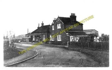 Wanborough Railway Station Photo. Guildford to Ash Green and North Camp. (5)