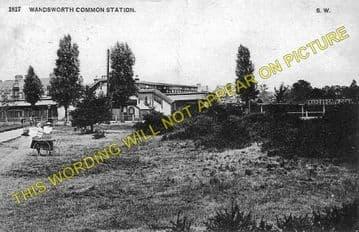 Wandsworth Common Railway Station Photo. Clapham Junction - Balham. LB&SCR. (2)