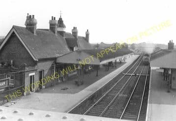 Wareham Railway Station Photo. Hamworthy to Wool and Swanage Lines. L&SWR. (10)..